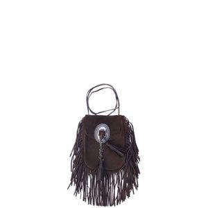 Saint Laurent Anita Suede Fringe Crossbody Bag